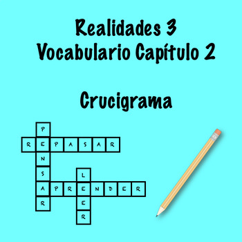 Realidades 3 Vocabulary Crossword Capítulo 2