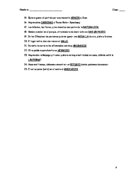 Realidades 3 Vocabulary Fill in Chapter 1