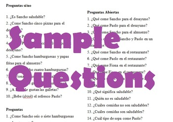 Spanish Food Vocabulary Story (Realidades 3A)