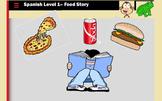 Spanish Food Vocabulary Story (Realidades 3A)