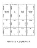 Realidades 3A Vocab Puzzle (Spanish 1)
