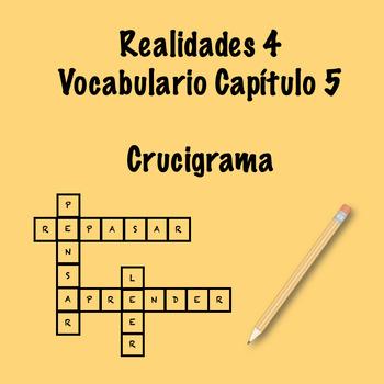 Realidades 4 Vocabulary Crossword Capítulo 5