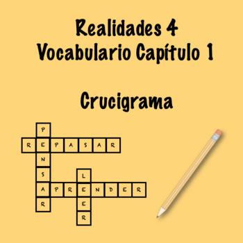 Realidades 4 Vocabulary Crossword Chapter 1