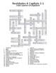 Realidades 4 Vocabulary Crossword Chapter 3