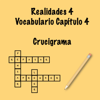 Realidades 4 Vocabulary Crossword Chapter 4