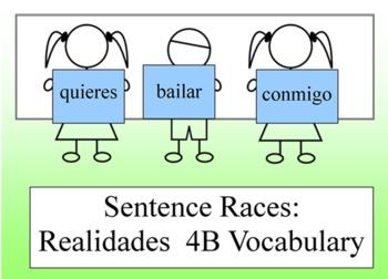 Realidades 4B Sentence Race Accompanying Smartboard Presentation