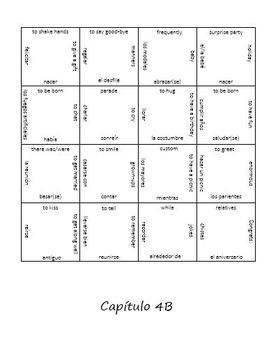 Realidades 4B Vocab Puzzle (Spanish 2)
