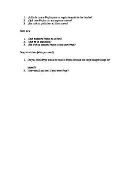 Realidades 7b el regalo de pepita questions
