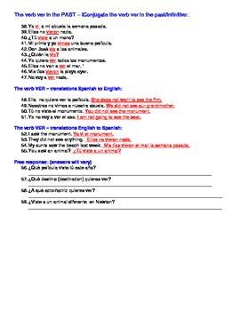 Realidades 8A - ver/voc/Spanish definitions/free response/translations