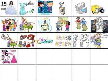 Birthday Party Vocabulary Flash Cards (Realidades B Ch. 5A)
