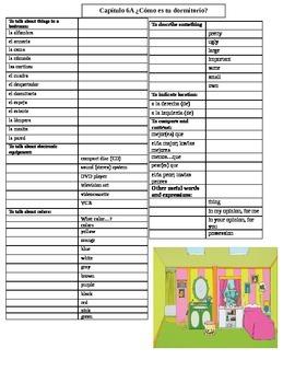 Realidades B Chapter 6A Vocabulary