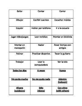 Realidades Chapter 1A word sort