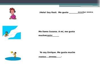 Realidades Español 1 1A animated vocabulary