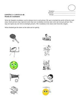 Realidades I, 4B Vocabulary Quiz