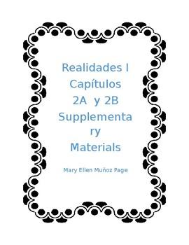 Realidades I Caps 2A y 2B Supplementary Materials