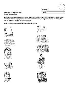 Realidades I, Para Empezar Vocabulary Quiz