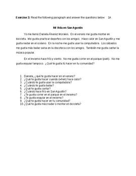 Realidades I capítulos 1A y 1B Supplementary Materials