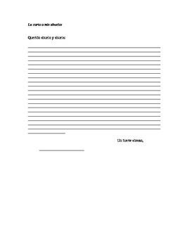 Realidades II, 2B Writing Assignment