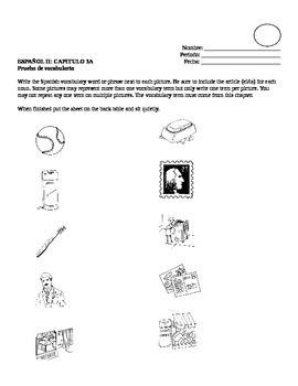 Realidades II, 3A Vocabulary Quiz