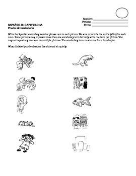 Realidades II, 4A Vocabulary Quiz