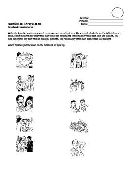 Realidades II, 4B Vocabulary Quiz