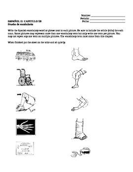 Realidades II, 5B Vocabulary Quiz