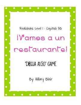 Realidades Level 1, Chapter 5B - Dibuja Algo Game