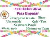 Realidades Para Empezar Bundle (Greetings, numbers, body, time, weather, date)