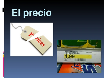 Realidades Spanish 1 Chapter 7A Vocabulary Powerpoint