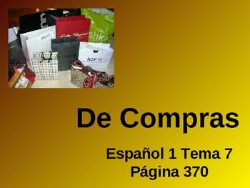 Realidades Spanish 1 Chapter 7B Vocabulary Powerpoint