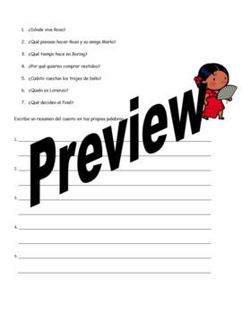 Realidades Spanish 1 SUPER Bundle: TPR story reading comprehension questions