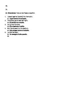 Realidades Spanish 3 Chapter 1 A ver si B Quiz