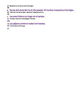 Realidades Spanish 3 Chapter 1 A ver si Speaking Activity and Translations