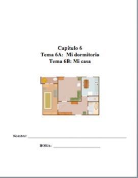 Realidades 1 TEMA 6A 6B Editable MONSTER PACKET