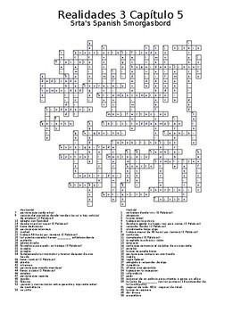 Realidades 3 Vocabulary Crossword Capítulo 5