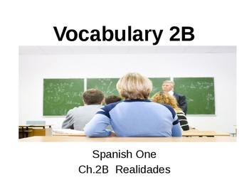 Realidades Vocabulary c.2B