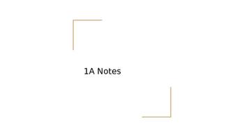 Realidades ch 1A Notes