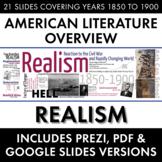 Realism, American Literature Movement, from Civil War to Regionalism/Naturalism