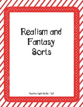 Realism-Fantasy Word Sort