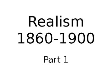 Realism Movement in US