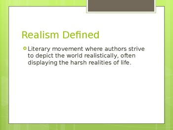 Realism Notes