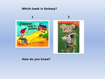 Realism and Fantasy Interactive Powerpoint
