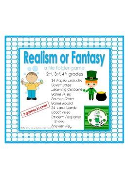Realism or Fantasy: a file folder game / task cards
