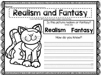 Realism or Fantasy {Skill Assessment}