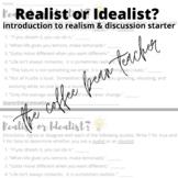 Realist Or Idealist Activity