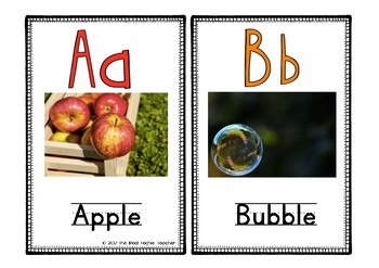 Realistic Alphabet Posters