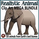 Realistic Animal Clip Art MEGA-BUNDLE