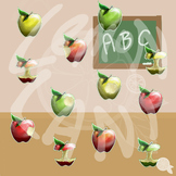 Realistic Apples Clip Art