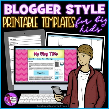 editable blog templates for any topic by teachers resource force