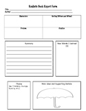 Realistic Book Report Graphic Organizer and Project